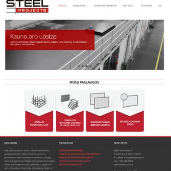 Korporatyvinė svetainė (LT ir EN kalbomis).  http://www.steelprojects.lt/