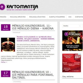 Magijos svetainė. http://kartomantija.lt/