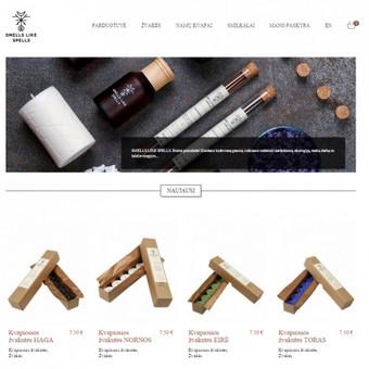 Žvakės ir kvapai namams e-parduotuvė. Vietinei ir ES rinkai (LT ir EN kalbomis). http://smellslikespells.lt/ http://www.smellslikespells.com/