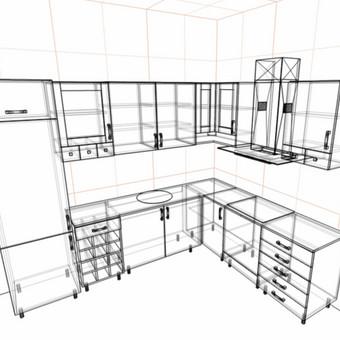 Nepabaigta projektuoti virtuvė