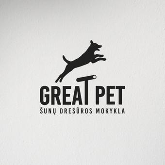 """""""Great Pet"""" logotipo dizainas."""