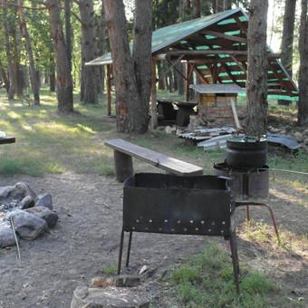 Įrengtos stovyklavietės