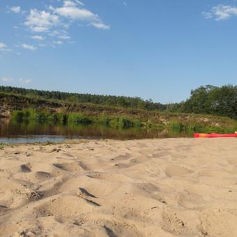 Mūsų puikusis paplūdimys ant Šventosios upės kranto