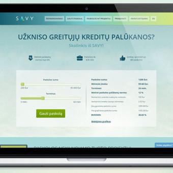 """www.savy.lt, www.gosavy.com  Kuriamos ir atnaujinamos atskiros interneto svetainės dalys, """"Landing-page'ai"""", paskolų paraiškos langai ir kiti elementai """"desktop"""" ir mobiliajai versijai. Pagrindini ..."""