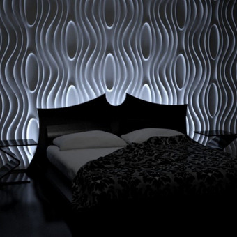 dekoratyvios sienos su 3D gipsu