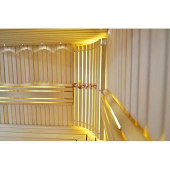 Pirtis Klaipėdoje Sienos - aukščiausios rūšies liepos mediena, gultai ir nugaros atramos - abachi. Apšvietimas lubose - LED mėnulis, sienose - LED baltas šiltas apšvietimas, po gultais –  ...