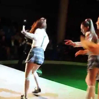 Muzikinės šokių kompozicijos video.