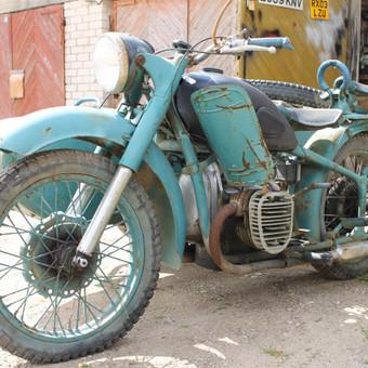 M-72 motociklas prieš remonta