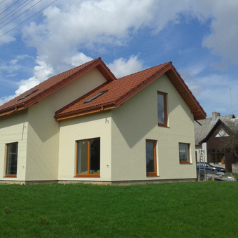 Pilnas fasado armavimas ir dekoratyvinio tinko dėjimas Kauno raj.