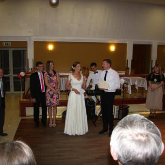 Šaunios vestuvės,puikūs vedantieji ,smagūs svečiai...