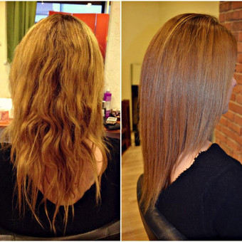 Botox drėkinanti procedūra plaukams.