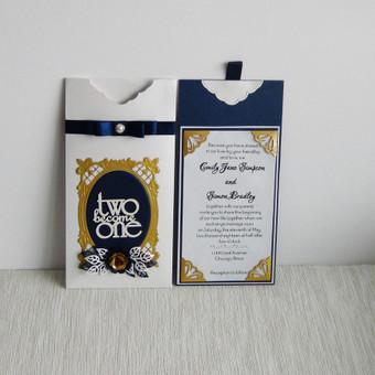 Vestuvinis kvietimas vokelyje