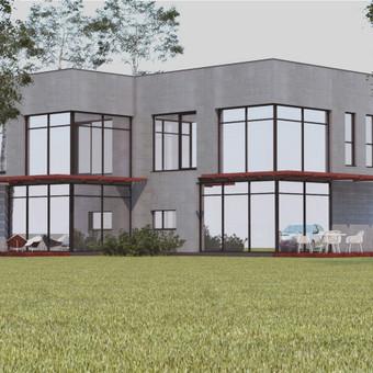 Pastatų projektavimas. 3D vizualizacijos. Vienbutis gyvenamasis namas. Užsakovas - privatus asmuo.