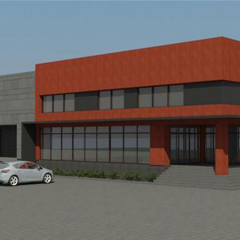 Priešprojektinis pasiūlymas ir 3D vizualizacija. Multifunkcinis pastatas Archangelske. Užsakovas - privatus asmuo.