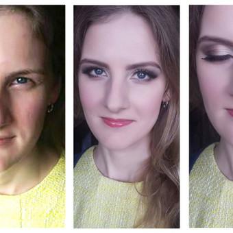 Fotosesinis makiažas, nuotraukos prieš ir po.