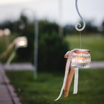 Dekoras: indresdirbtuvele.lt Stiklinių vazų / žvakidžių nuoma ( 2 dydžiai )