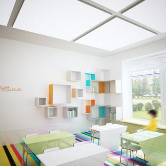 """Kauno Prano Mašioto pradinės mokyklos koncepcija """"It's all about the colours"""""""