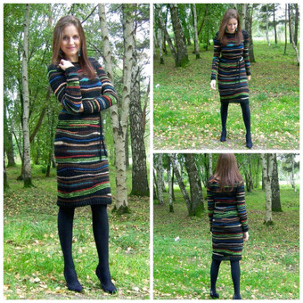 Ratu megzta margaspalvė suknelė