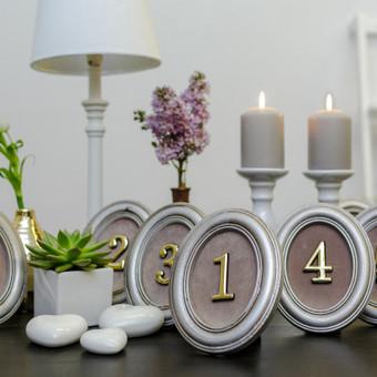 Rėmeliai stalo numeracijai