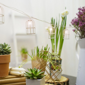 Lempučių girlianda - mini narveliai