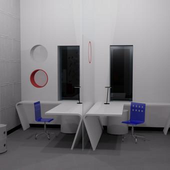 """Biuro interjero projektas sukurtas firmai """"Vertimo namai""""."""