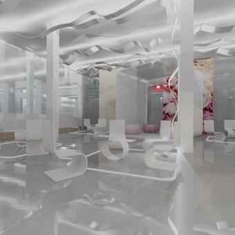 Laisvalaikio ir pramogų centro interjero projektas sukurtas kultūros fabrikui KUFA, Klaipėdoje.