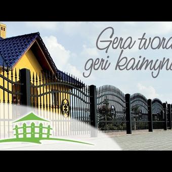 Gera tvora - geri kaimynai! Metalinių ir medinių tvorų ir vartų gamyba bei montavimas.