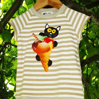 Žaismingi drabužėliai su katinais. www.murr.lt