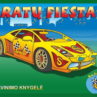 """Ar teko kada kelyje sutikti neįprastų mašinų? Knygelėje """"Ratų fiesta"""" pamatysi ir galėsi nuspalvinti bei išpuošti lipdukais 6 išskirtinius automobilius – karinį ir safari džipą, l ..."""