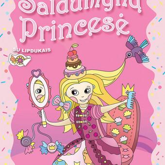 Saldumynų princesė kviečia į svečius! Užsukite į svečius ir pažiūrėkite kaip ji gyvena ir ką veikia. Nuspalvinkite paveikslėlius ir juos dekoruokite lipdukais.