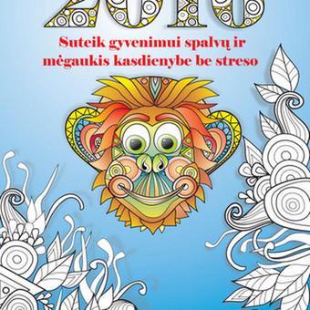 2016  m. kalendorius - spalvinimo knyga, parengtas pagal meno terapijos principus. Tinka tiek mažiems, tiek dideliems. Leidinyje 12 nuotaikingų paveikslėlių su beždžionėlių nuotykiais. Puslap ...