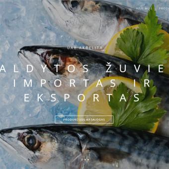 Šaldytos žuvies importo-eksporto kompanijos Akbelita tinklalapis. www.akbelita.lt