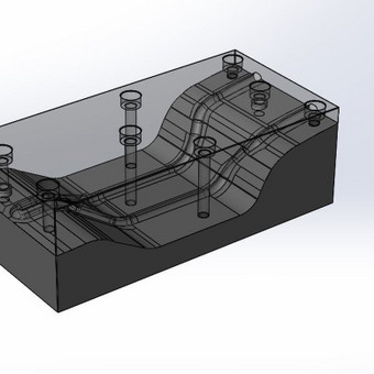 Frezuoto aliuminio forma, kompozitinių detalių gamybai.