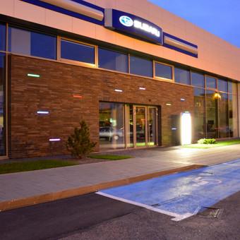 Subaru centro fasado apšvietimas