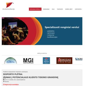 Renginių korporatyvinė svetainė. http://www.etakomunikacija.lt/