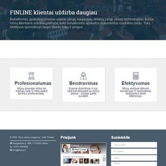 Korporatyvinė svetainė. http://www.finline.lt/