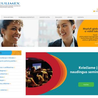 Eksporto konsultavimo ir valdymo agentūros korporatyvinė svetainė. http://www.eulimex.lt/