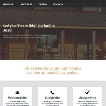 Sukurta informacinė svetainė www.pasmilda.lt