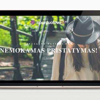 Elektroninės drabužių parduotuvės administravimas. Produktų ir informacijos įkėlimas, atsiskaitymų platformos integracija, produkto priežiūros modulio programavimas. www.isparduotuve24.lt