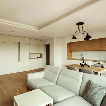 Jaunos šeimos buto interjeras Vilniuje