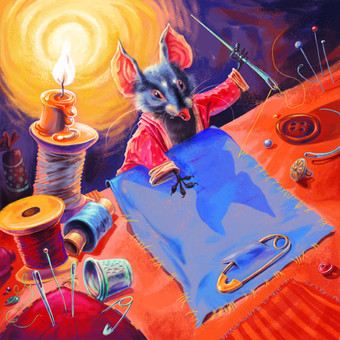 Vaikiškos knygelės iliustracija. Adobe photoshop