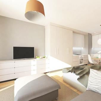Mažas kompaktiškas butas taip pat gali būti labai komfortabilus.