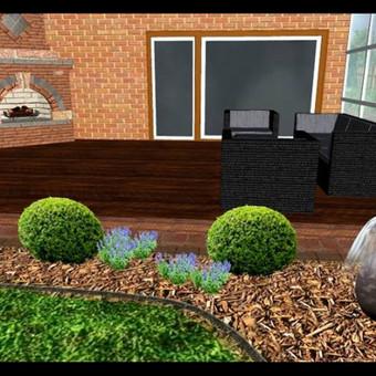 Sodybos, įmonės kiemo, terasos, balkono apželdinimo projektai.