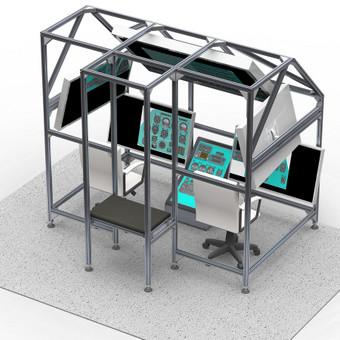 Skrydžių simuliatoriaus 3D modelis