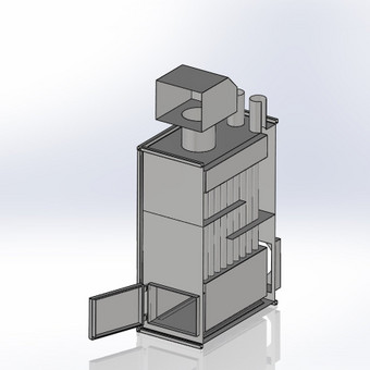Orinis katilas - 3D modelis