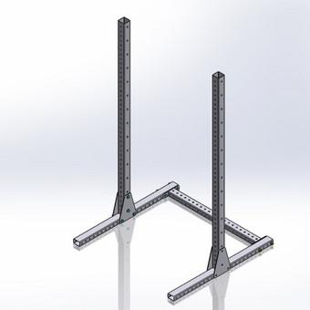 Pritūpimo stovo 3D modelis