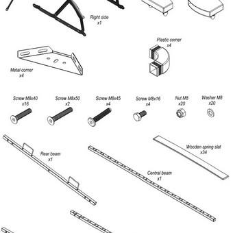 Detalių sąrašas surinkimo instrukcijai