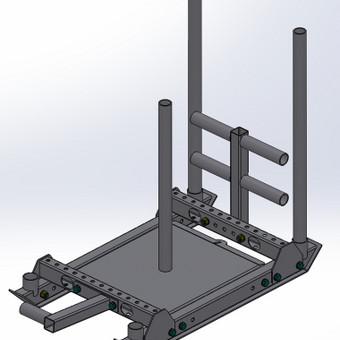 Sporto inventoriaus (universalių rogių) 3D modelis