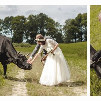 Jaunieji su karvute / Eglė ir Raimondas (vestuvių fotografija)