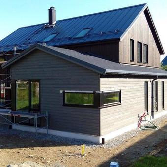 Vienbutis gyvenamasis namas. Norvegija